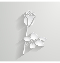 Paper rose vector