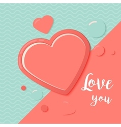 Pink and blue paper hearts for scrapbooking design vector image vector image