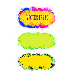 set of abstract colorful brush strokes vector image vector image