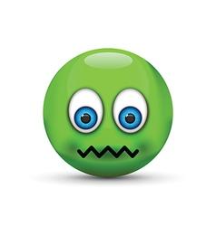 sick emoji vector image vector image