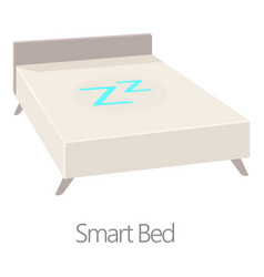 Smart bed icon cartoon style vector