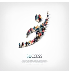 Succes people sign 3d vector