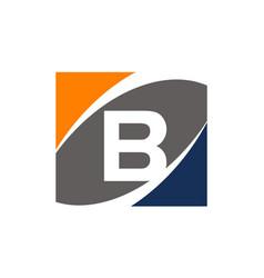 Success solution letter b vector