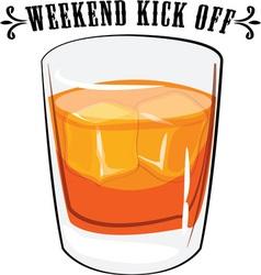 Weekend kick off vector