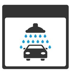 Automobile shower calendar page toolbar vector
