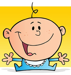 Happy Baby Boy Cartoon Character vector image