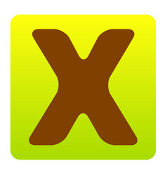 letter x sign design template element vector image