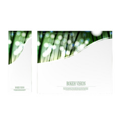 Abstract bokeh vision in the forrest template vector