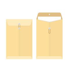 Office manila envelope vector