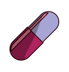 Pill medicine isolated vector