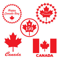 Red canada day graphics vector