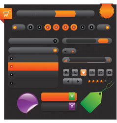 Shiny web buttons - vector
