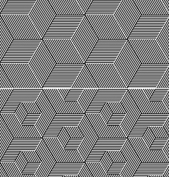 Cubic Elements Seamless Patterns vector image