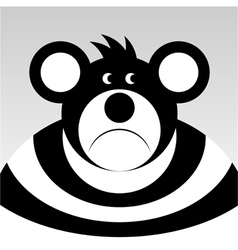 Sad cartoon bear vector