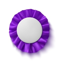 Purple fabric award ribbon vector