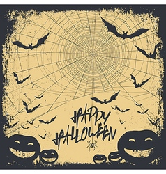Halloween background silhouettes vector