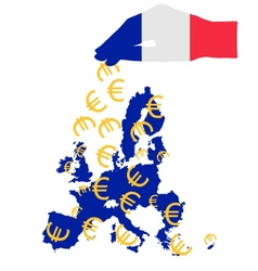 Subsidies from France vector image