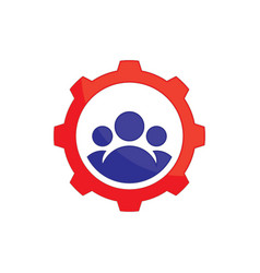 abstract gear team work logo icon image ima vector image