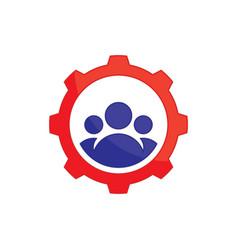 Abstract gear team work logo icon image ima vector