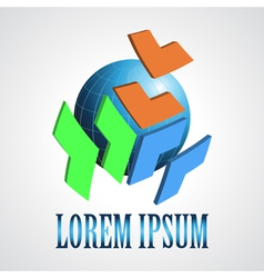 Abstract modern globe logo design template vector image