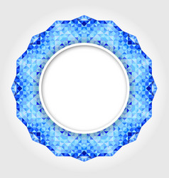 Abstract White Round Frame with Blue Digital Borde vector image vector image