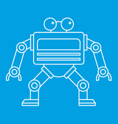 Automation machine robot icon outline style vector