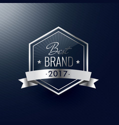 Best brand of the year silver luxury realistic vector