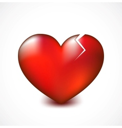 Broken heart with crack background vector image