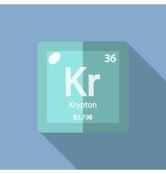 Chemical element krypton flat vector