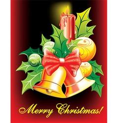 Christmas bells design vector