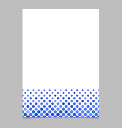 Circle pattern page template - graphic from dots vector
