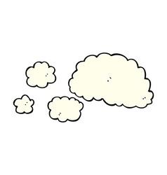cloud of smoke comic cartoon element vector image