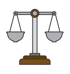 Colorful silhouette of justice scales vector