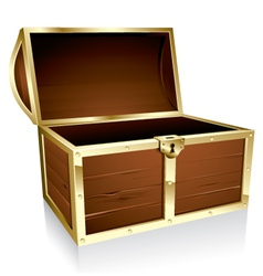 Empty treasure chest vector