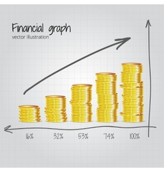 Financial graph vector image