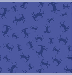 horned goats seamless pattern vector image