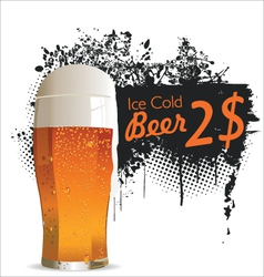 Ice cold beer background vector