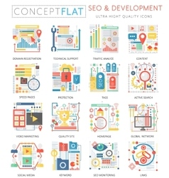 Infographics mini concept SEO and development vector image vector image