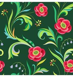 pattern elegant flower vector image vector image