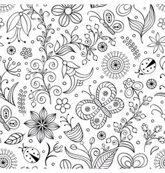 pattern with abstract flowers vector image vector image