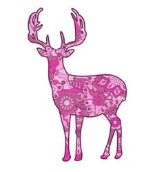 Pink deer vector image vector image