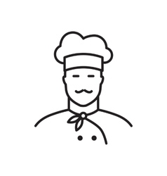 Professional chef line icon vector