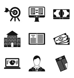Resolution icons set simple style vector