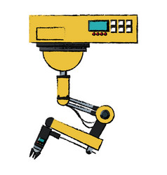robotic arms robot industrial technology and vector image vector image