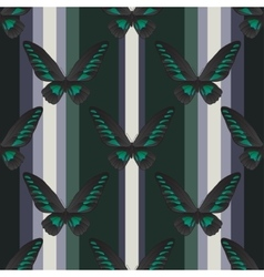 Seamless vertical retro pattern with butterfly vector image vector image