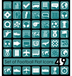 Set of football icons vector