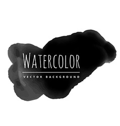 Dark watercolor stain vector