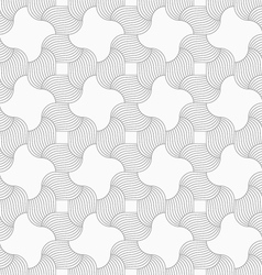 Slim gray hatched wavy squares vector