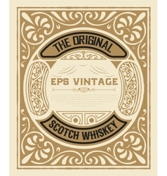 Art-deco whiskey card vector