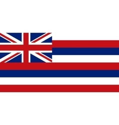 Flag of hawaii correct proportions and colors vector